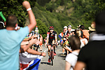 Stefan Kung (SUI) BMC Racing Team climbs Alpe d'Huez during Stage 12 of the 2018 Tour de France running 175.5km from Bourg-Saint-Maurice les Arcs to Alpe D'Huez, France. 19th July 2018. <br /> Picture: ASO/Pauline Ballet | Cyclefile<br /> All photos usage must carry mandatory copyright credit (&copy; Cyclefile | ASO/Pauline Ballet)