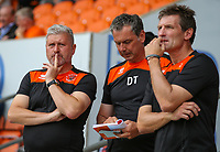 Blackpool's caretaker manager Terry McPhillips (left) watches on<br /> <br /> Photographer Alex Dodd/CameraSport<br /> <br /> The EFL Sky Bet League One - Blackpool v Portsmouth - Saturday August 11th 2018 - Bloomfield Road - Blackpool<br /> <br /> World Copyright &copy; 2018 CameraSport. All rights reserved. 43 Linden Ave. Countesthorpe. Leicester. England. LE8 5PG - Tel: +44 (0) 116 277 4147 - admin@camerasport.com - www.camerasport.com
