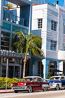 US, Florida, Miami Beach. Art Deco, The Webster Miami, Collins Ave.