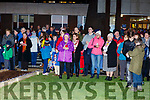 Attending the turning on, of the lights on the University Hospital Kerry's Christmas Tree.