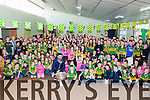 Aidan O'Mahony delighted the children and staff of Currow NS when he arrived with the Sam Maguire on Wednesday morning