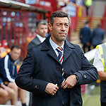 Pedro Caixinha surveys the Rangers fans in the away stand
