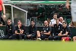 07.07.2019, Parkstadion, Zell am Ziller, AUT, TL Werder Bremen Zell am Ziller / Zillertal Tag 03 - FSP Blitzturnier<br /> <br /> im Bild<br /> Thomas Horsch (Co-Trainer SV Werder Bremen), <br /> Tim Borowski (Co-Trainer SV Werder Bremen), <br /> Ilia Gruev (Co-Trainer SV Werder Bremen), <br /> Christian Vander (Torwart-Trainer SV Werder Bremen), <br /> Dr. Christoph Engelke (Mannschaftsarzt Werder Bremen), <br /> Dr. Benjamin Schnee (Mannschaftsarzt Werder Bremen) auf Trainerbank, <br /> <br /> im ersten Spiel des Blitzturniers SV Werder Bremen vs WSG Swarowski Tirol, <br /> <br /> Foto © nordphoto / Ewert
