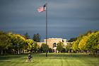 Sep. 30, 2014; Morning on South Quad. (Photo by Matt Cashore/University of Notre Dame)