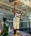 University at Albany men's basketball defeats Binghamton University 71-54  at the  SEFCU Arena, Feb. 27, 2018.  Alex Foster (#34). (Bruce Dudek / Cal Sport Media/Eclipse Sportswire)