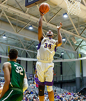 University at Albany men's basketball defeats Binghamton University 71-54  at the  SEFCU Arena, Feb. 27, 2018.  Alex Foster (#34). (Bruce Dudek / Cal Sport Media/Eclipse Sportswire)