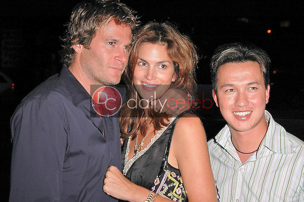 Rande Gerber, Cindy Crawford and Bobby Trendy