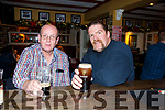 Mike Culloty (Alderwood Rd) and Stephen Kelly (Boston) enjoying the night out in the Brogue Inn on Thursday night.