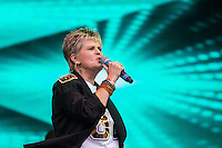 Hazell Dean performing during Rewind South, The 80s Festival, at Temple Island Meadows, Henley-on-Thames, England on 20 August 2016. Photo by David Horn.