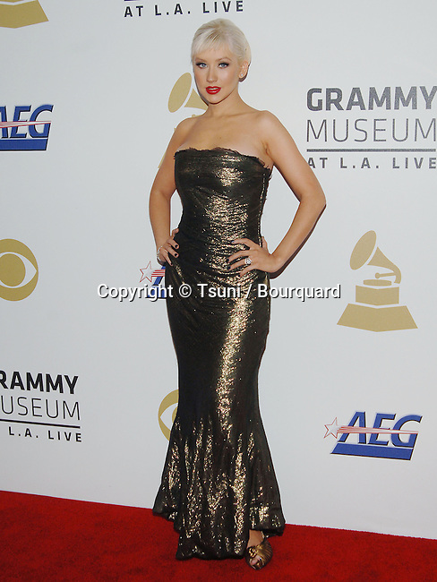 Christina Aguilera   - <br /> The GRAMMY Nominations Concert Live!! &mdash; Countdown To Music's Biggest Night at the Nokia Theatre in Los Angeles.