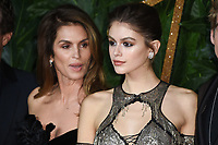Cindy Crawford and Kaia Gerber<br /> arriving for The Fashion Awards 2018 at the Royal Albert Hall, London<br /> <br /> ©Ash Knotek  D3466  10/12/2018