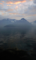 Sunrise on the lake, Stätter See. Beckenried. Luzern area, Switzerland.