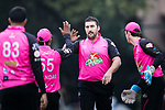 HONG KONG, HONG KONG - MARCH 11: Ashley Caddy of Hung Hom JD Jaguars (C) celebrates with his team after taking the wicket during the Hong Kong T20 Blitz match between City Kaitak and Hung Hom JD Jaguars at Tin Kwong Road Recreation Ground on March 11, 2017 in Hong Kong, Hong Kong. (Photo by Power Sport Images/Getty Images) *** Local Caption *** Ashley Caddy