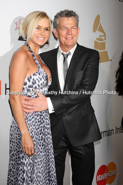 David Foster & Wife Yolanda.arriving at the Clive Davis Pre-Grammy Party .Beverly Hilton Hotel.Beverly Hills, CA.January 30, 2010.©2010 Kathy Hutchins / Hutchins Photo....