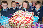 Students at Kilcummin National School in Killarney are busy putting the final touches to their shoebox appeal for children around the world at Christmas. The children are donating toys and necessities to fill the shoeboxes for the Team Hope Christmas appeal. .L-R Donagh Fahy, Edel Horgan, Caoimhe Lehane and Ryan McGurl