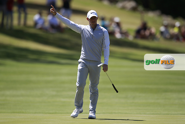 Rory McIlroy (NIR) on the 9th during round 3 of the WGC Dell Matchplay championship, austin Country club, Austin, Texas, USA. 25/03/2016.<br /> Picture: Golffile | Fran Caffrey<br /> <br /> <br /> All photo usage must carry mandatory copyright credit (&copy; Golffile | Fran Caffrey)