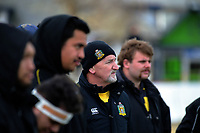 Yellows coach Kelvin Tantrum during the 2019 Manawatu premier club rugby Hankins Shield final match between Varsity and Feilding Yellows at CET Arena in Palmerston North, New Zealand on Saturday, 13 July 2019. Photo: Dave Lintott / lintottphoto.co.nz