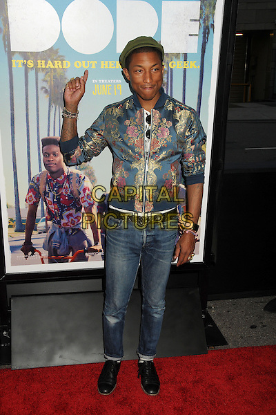 8 June 2015 - Los Angeles, California - Pharrell Williams. LA Film Festival 2015 Premiere of &quot;Dope&quot; held at Regal Cinemas L.A. Live. <br /> CAP/ADM/BP<br /> &copy;BP/ADM/Capital Pictures