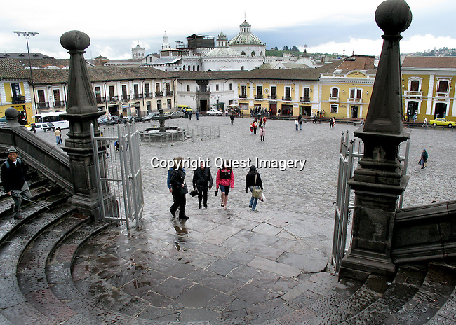 Quito is the capital city of Ecuador, and at an elevation of 9,350 feet, it is the highest official capital city in the world.<br /> Photo by Deirdre Hamill/Quest Imagery