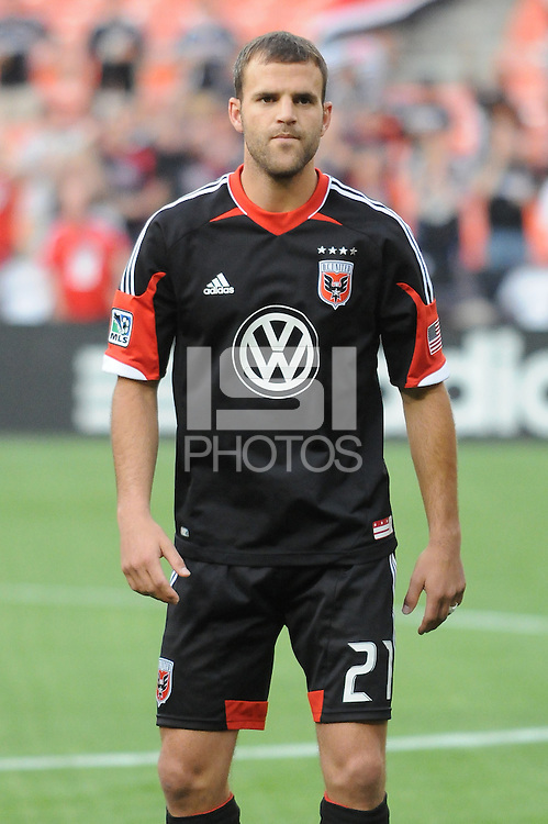 D.C. United defender Daniel Woolard (21) D.C. United defeated the Colorado Rapids 2-0 at RFK Stadium, Wednesday May 16, 2012.