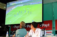 GRONINGEN - Voetbal, Presentatie Uriel Antuna , FC Groningen , Noordlease stadion, seizoen 2017-2018, 21-08-2017, Uriel Antuna en Peter Hoekstra kijken naar video