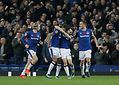 5th November 2017, Goodison Park, Liverpool, England; EPL Premier League Football, Everton versus Watford; Dominic Calvert-Lewin of Everton celebrates as he scores his side's second goal after 74 minutes