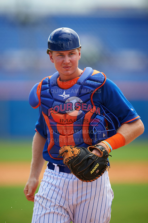 New York Mets catcher Daniel Rizzie (20) during an Instructional League game against the Miami Marlins on September 29, 2016 at the Port St. Lucie Training Complex in Port St. Lucie, Florida.  (Mike Janes/Four Seam Images)