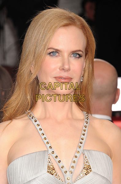 Nicole Kidman.Arrivals at the 69th Annual Golden Globe Awards at The Beverly Hilton Hotel, Beverly Hills, California, USA..January 15th, 2012.globes headshot portrait silver gold beads beaded .CAP/GDG.©GDG/Capital Pictures