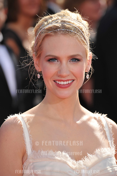 January Jones at the 2008 Primetime Emmy Awards at the Nokia Live Theatre. .September 21, 2008  Los Angeles, CA..Picture: Paul Smith / Featureflash