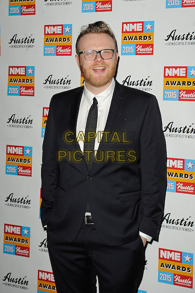 LONDON, ENGLAND - FEBRUARY 18: Huw Stevens attending the NME Awards at Brixton Academy on February 18 2015 in London, England.<br /> CAP/MAR<br /> &copy; Martin Harris/Capital Pictures