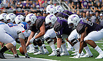 SIOUX FALLS, SD - SEPTEMBER 5: The University of Sioux Falls line up near the end zone against the University of Mary during the first half of their game Saturday afternoon at Bob Young Field.  (Photo by Dave Eggen/Inertia)