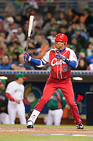 16 March 2009: #26 Leonys Martin of Cuba is seen at bat during the 2009 World Baseball Classic Pool 1 game 3 at Petco Park in San Diego, California, USA. Cuba wins 7-4 over Mexico.