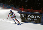 November 29, 2013 - Beaver Creek, Colorado, U.S. - Liechtenstein's, Tina Weirather, completes her run in the ladies downhill competition on Vail/Beaver Creek's new women's Raptor race course, Beaver Creek, Colorado.