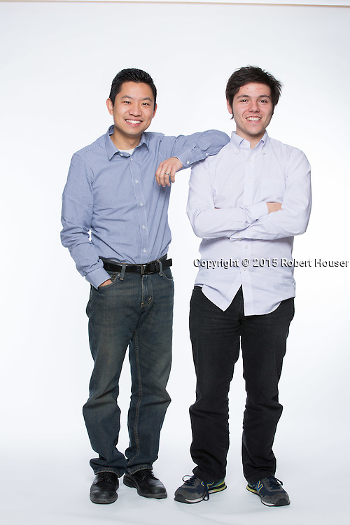 Portrait of Roger Lee - CEO & Co-Founder; Paul Sawaya - CTO & Co-Founder (white shirt) -  Captain401