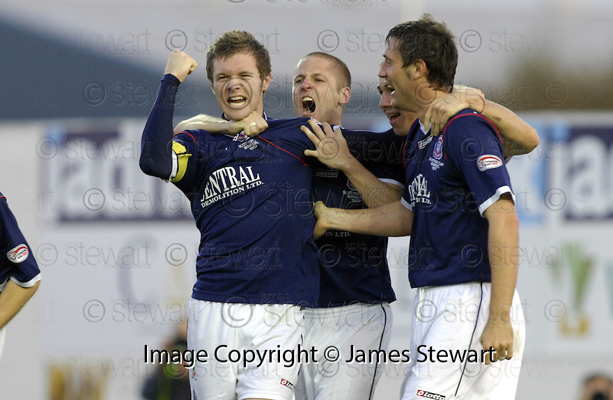 03/11/2007       Copyright Pic: James Stewart.File Name : sct_jspa02_falkirk_v_gretna.DARREN BARR CELEBRATES AFTER HE HEADS HOME FALKIRK'S FIRST.James Stewart Photo Agency 19 Carronlea Drive, Falkirk. FK2 8DN      Vat Reg No. 607 6932 25.Office     : +44 (0)1324 570906     .Mobile   : +44 (0)7721 416997.Fax         : +44 (0)1324 570906.E-mail  :  jim@jspa.co.uk.If you require further information then contact Jim Stewart on any of the numbers above........