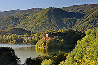 Lake Bled and the Assumption of Mary's Pilgrimage Church, Bled Slovenia