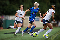 Seattle, Washington -  Sunday, September 11 2016: Seattle Reign FC forward Megan Rapinoe (15) during a regular season National Women's Soccer League (NWSL) match between the Seattle Reign FC and the Washington Spirit at Memorial Stadium. Seattle won 2-0.