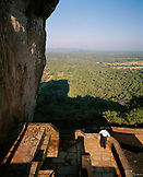 SRI LANKA, Asia, rear view of a man standing at Sigiriya Fortress