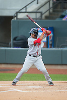 Drew Ward (17) of the Potomac Nationals at bat against the Winston-Salem Dash at BB&T Ballpark on April 30, 2015 in Winston-Salem, North Carolina.  The Nationals defeated the Dash 5-4..  (Brian Westerholt/Four Seam Images)