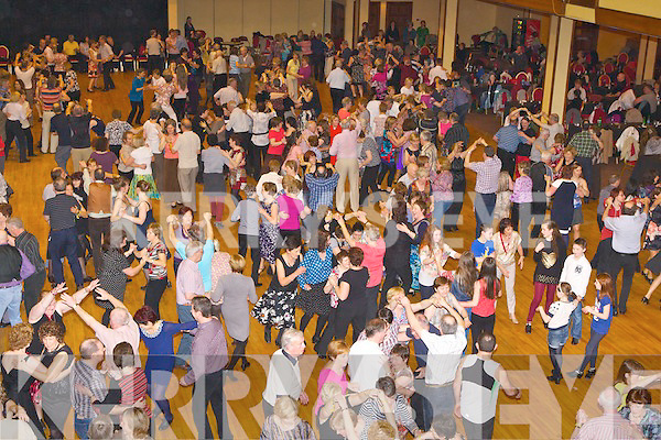 The large crowd dancing at the Gathering monster Céilí in the INEC on Sunday...
