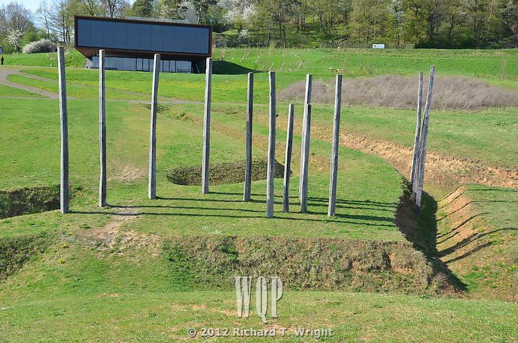 Calander poles at Der Glauberg Celtic site, Hessen Germany