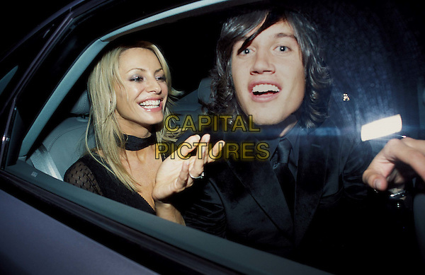 TESS DALY - VERNON KAY.tess daley, vernon kaye.GQ Men Of The Year Awards at The Royal Opera House.and Aftershow party at the Amphitheatre Bar.www.capitalpictures.com.sales@capitalpictures.com.© Capital Pictures.funny, in car.