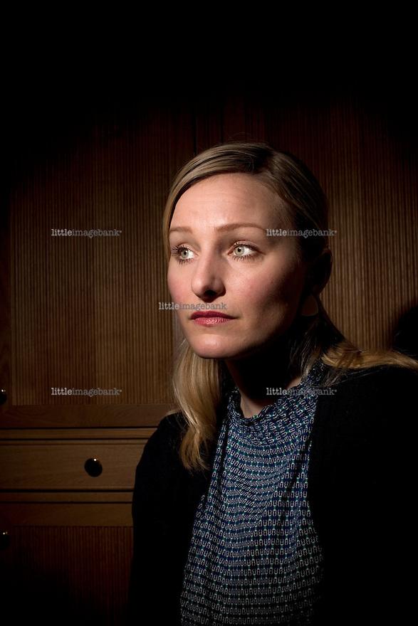 Inga Marte Thorkildsen seen in her offices and inside the Norwegian parliament Stortinget. 05.05.09. Photo: Christopher Olssøn.