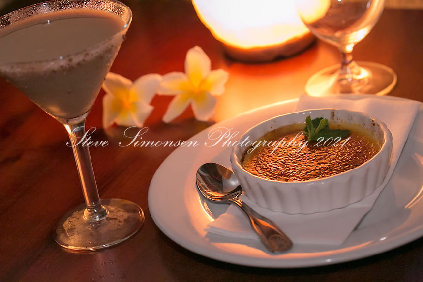 Creme br&ucirc;l&eacute;e<br /> Virgin Fire restaurant<br /> St. John<br /> U.S. Virgin Islands