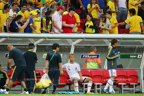 Keisuke Honda (JPN), <br /> June 15, 2013 - Football / Soccer : <br /> FIFA Confederations Cup Brazil 2013, Group A <br /> match between Brazil 3-0 Japan <br /> at Estadio Nacional, Brasilia, Brazil. <br /> (Photo by Daiju Kitamura/AFLO SPORT) [1045]