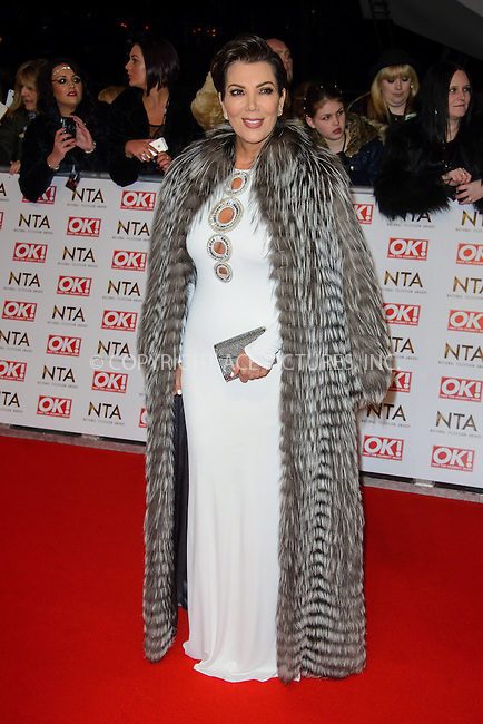WWW.ACEPIXS.COM<br /> <br /> January 20 2015, London<br /> <br /> Kris Jenner attends the National Television Awards at the O2 Arena on January 21 2015 in London<br /> <br /> <br /> By Line: Famous/ACE Pictures<br /> <br /> <br /> ACE Pictures, Inc.<br /> tel: 646 769 0430<br /> Email: info@acepixs.com<br /> www.acepixs.com