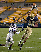 Pitt Panthers Wide Receiver Oderick Turner makes a catch in a losing cause against the Connecticut Huskies on September 22, 2007 at Heinz Field, Pittsburgh, Pennsylvania. The Huskies defeated the Panthers 34-14.