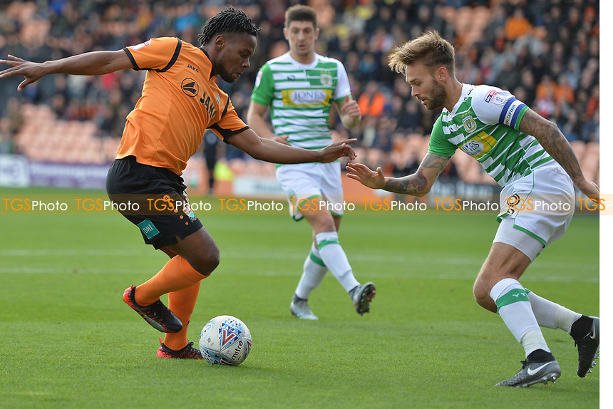 Shaquile Coulthirst of Barnet during Barnet vs Yeovil Town, Sky Bet EFL League 2 Football at the Hive Stadium on 21st October 2017