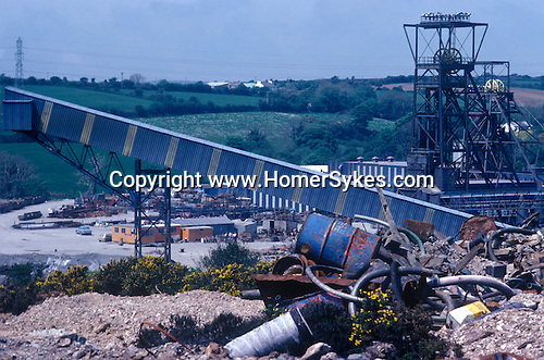 Wheal Jane Tin Mine 1978 near Baldhu and Chacewater in West Cornwall. Cornish Tin Mining Company. 1970s England