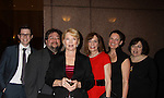 Erika Slezak & writers nominated (L to R) Chris Van Etten, Scott Sickles, Shelly Altman, Elizabeth Page, Jean Passanante - One Live To Live nominated at The 63rd Annual Writers Guild Awards on Sarturday, February 5, 2011 at the AXA Equitable Center, New York City, New York. (Photo by Sue Coflin/Max Photos)